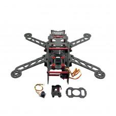Full Carbon Fiber CNC QAV280 Quadcopter+Camera+Servo+Distribution Board for FPV Photography