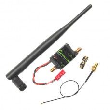 2.4G 2W Radio Signal Amplifier Booster + Antenna + Feeder Line for DJI Phantom Transmitter TX Extend Range White