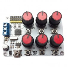 6 Channel Rotary Knob Control Board with Overloading Protection Easy Operation