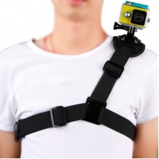 Single Shoulder Strap Chest Strap Fixation for Gopro Hero4 3+ 3 Xiaoyi Camera Extreme Sports Shooting