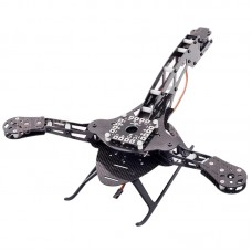 HJ-Y3 3-Axis Glass Fiber Tricopter Frame Kit with Landing Gear for FPV Photography