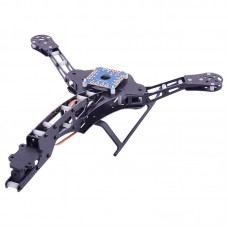 HJ-Y3 3-Axis Carbon Fiber Tricopter Frame Kit with Landing Gear for FPV Photography