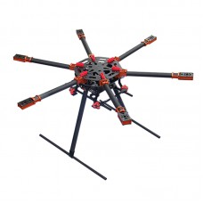 25mm Umbrella Folding Hexacopter Carbon Fiber Frame Kits LY-850 for Multicopter FPV Photography