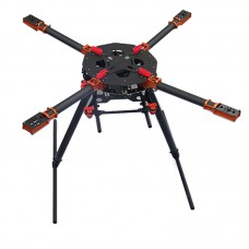 25mm Umbrella Shape Folding Quadcopter Carbon Fiber Frame Kits LY-850 for Multicopter FPV Photography