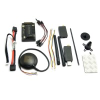 APM Autopilot APM2.6 Flight Control w/ 6H GPS & 3DR 433 MHz Telemetry + Power Supply Module Combo