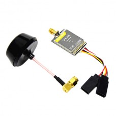 DALRC QTX600 5.8G 600mW 32CH Audio Video A/V Transmitter Tx with Mushroom Antenna for FPV Multicopter