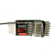 High Quality 2.4G 6CH RadioLink R6D DSSS Receiver for AT9 AT10 Transmitter RC