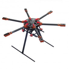 SAGA R850 Carbon Fiber X6 Hexacopter FPV Multi-rotor Frame Kit with Landing Skid