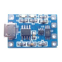 TP4056 lithium Battery Charging And Discharging Board Over-Current Protection Module18650 Micro USB 5-Pack