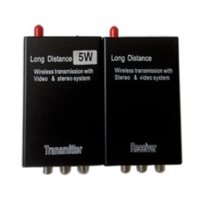 2.4G 5W Wireless Monitoring Wireless Audio Video Transmission Wireless Video Transceiver Transmitter Sender FPV ReceiverTX RX