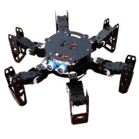 Six Foot Robot 6-legged Robot  Hexapod Spider Robot Frame Kit Servo Bracket Ball Bearing Black