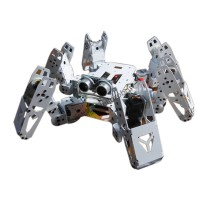 Six Foot Robot 6-legged Robot  Hexapod Spider Robot Frame Kit Servo Bracket Ball Bearing White
