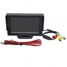 "Car Reverse Camera Monitor 4.3"" TFT LCD Screen DVD VCR CCTV RearView Invigilator"