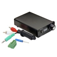 Indeed TDA7492s Cute Class D HiFi 50WX2 Mini Amplifier + 24V2A Power Adapter Silver for LCD TV Monitor