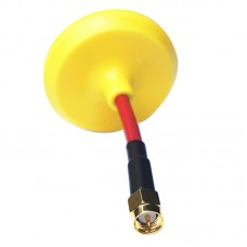 MOY 5.8G FPV Ominidirectional Mushroom Antenna for Tx/RX SMA Yellow Straight Type Inner Hole for Multicopter