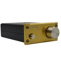 ZHILAI K3 TPA3118 DC12V Aluminum Digital HIFI T-Amp Mini Stereo Amplifier Pro Audio Equipment Champagne Gold