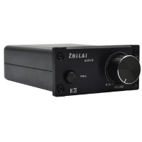 ZHILAI K3 TPA3118 DC12V Aluminum Digital HIFI T-Amp Mini Stereo Amplifier Pro Audio Equipment Black