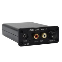 ZHILAI H10 Decoder DAC Audio Converter Amp USB Computer Sound Card Headphone Amp 24BIT 192Khz Black