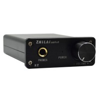 ZHILAI K2 Mini Desktop Computer HIFI Amp Digital Headphone Amplifier 2x25W Sound Earphone Output with Power Supply