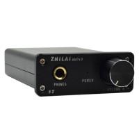 ZHILAI K2 Mini Desktop Computer HIFI Amp Digital Headphone Amplifier 2x25W Sound Earphone Output with Power Supply