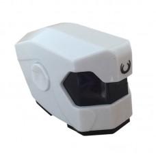 Robot Helmet Head Hood Dual Layer for DIY White and Black 1-Set
