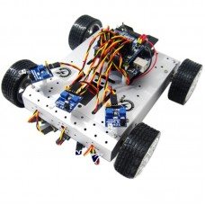 AS-4WDInfrared Obstacle Avoidance Smart Mobile Robotic Platform Robot Racing for Arduino DIY
