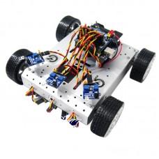 AS-4WD Aluminium Alloy Collision Sensor Smart Mobile Robotic Platform Robot Racing for DIY Arduino
