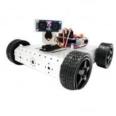 AS-4WD Aluminium Alloy Ultrasonic Detection Robot Smart Mobile Robotic Platform for DIY Arduino