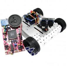 AS-4WD Aluminium Alloy voice Recognition Robot Smart Mobile Robotic Platform for DIY Arduino