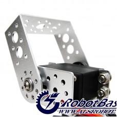 2-DOF RB-65PG Pan and Tilt Kit with Aluminum Golden Type U Servo Bracket Robot Joint for Arduino