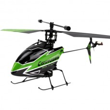 WLtoys V911-1 Upgrade Version 2.4G 4CH Single Blade Gyro RC Remote Control Helicopter New Plug Green BNF