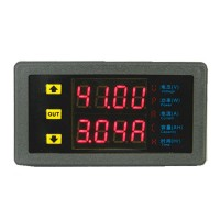 Multifunction Dual Display Digital Voltmeter Voltage Meter Electric Vehicle Power Meter Module DC Digital Ammeter 7520P