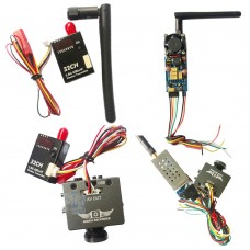 5.8G 2000MW Weirless VideoTransmitter AV 8CH with HD19 Plus Mini HD Aerial Camera Kit for FPV Multicopter