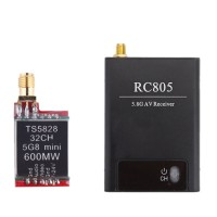Boscam TS5828 FPV 5.8Ghz 600mW 32CH Wireless AV Transmitter with RC805 DC12V Dual AV Receiver TX RX kit for RC Quadcopter