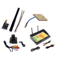 TS5823 5.8G 5.8GHz 200mW 32CH FPV Wireless AV Transmitter CCD 600 HD Camera RX-LCD5802 5.8G LED Backlight Receiver FPV Monitor