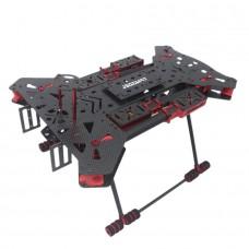 H4 Folding Quadcopter Carbon Fiber Frame Landing Gear 680 Alien FPV Aircraft for Gimbal