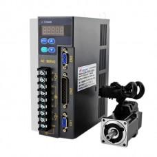 0.1KW/100W 2 Phase AC220V Low Power Servo Motor Sets 0.32NM 3000 Rolls