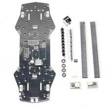 PDB PCB Board Racing Frame w/LEDs Buzzer 12V 5V BEC Support OSD For CC3D Naze32 Controller FPV QAV250 ZMR250 Frame