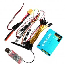 Super APM Flight Control with Aluminum Case Integrated OSD 433Mhz 3DR Tx with Power Module LED Indicator for FPV Multicopter
