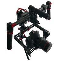 SteadyMaker Tank Plus 3-Axis 32 Bit CNC Handheld Brushless Camera Steady Gimbal Stabilizer V2 with Wired Joystick for 5D DSLR