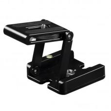Aluminum Alloy Folding Camera Z Desktop Stand Holder Tripod Flex Pan Tilt Ball Head Compatible Slide Rail for Camera Camcorder