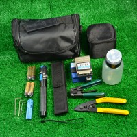 Fiber Optic FTTH Tool Kit with FC-6S Fiber Cleaver and Optical Power Meter Bag Kit