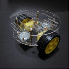 RT-4 Smart Car Two Layers Chassis Robotic Mini Car Avoding Obstacle Tracking w/ Coded Disc