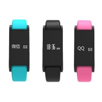 I6 0.4inch OLED Gesture Countrol Smart Bracelet Call ID Display Pulseira Vibration Alarm Clock Watches Fitness Tracker Wristband