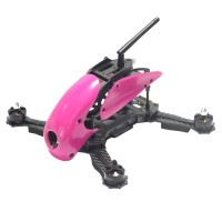 Carbon Fiber 4-Axis Frame Robocat B270 270mm Racing Mini Quadcopter Frame with Hood Cover for FPV Red Rose