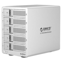 ORICO 9558U3-SV Aluminum 5 Bay 20TB USB 3.0 External 3.5 inch SATA HDD Docking Station Enclosure Case for Laptop PC