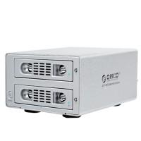 ORICO 3529RUS3 Aluminum 2 Bay USB3.0/eSATA External 3.5'' RAID SATA Hard Drive HDD Enclosure