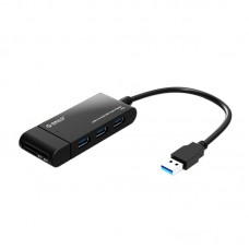 ORICO H32TS Mini USB3.0 HUB Multi Interface Expansion with Card Reader SD TF-Black