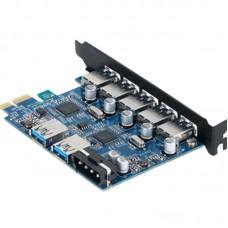 ORICO PVU3-5O2U USB3.0 7 Ports PCI Express Card HUB with VL800 and VL812 USB3.0 Hub