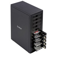ORICO 1088USJ3 Aluminum 3.5 inch SATA External Enclosure USB3.0 Port 10Bay Hard Disk Box HDD Case
